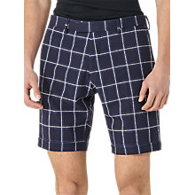 Buy Reiss Nickleby Check Tailored Fit Shorts, Navy Online at johnlewis.com