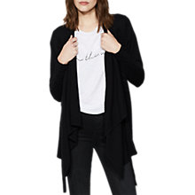 Buy Mint Velvet, Drawstring Cardigan, Black Online at johnlewis.com