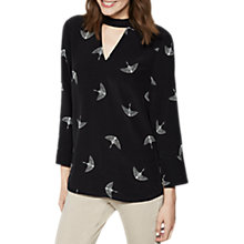 Buy Mint Velvet Imogen Print Choker Blouse, Multi Online at johnlewis.com