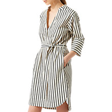 Buy Jigsaw Stripe Linen Dress, White/Black Online at johnlewis.com