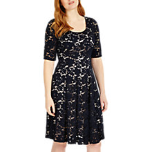 Buy Studio 8 Viola Lace Dress, Navy Online at johnlewis.com