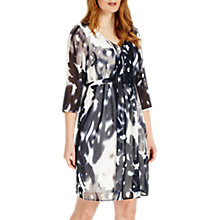 Buy Studio 8 Ainsley Abstract Print V Neck Shift Dress, Monochrome Online at johnlewis.com