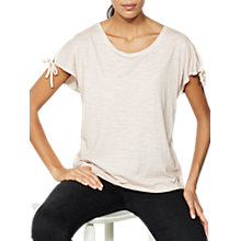 Buy Mint Velvet Petal Tie Sleeve T-shirt, Light Pink Online at johnlewis.com