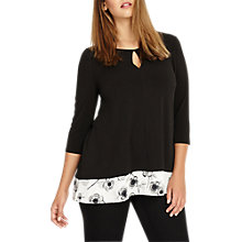 Buy Studio 8 Evadine Top, Black/White Online at johnlewis.com