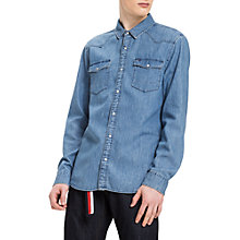 Buy Hilfiger Denim Long Sleeve Regular Fit Denim Shirt, Light Blue Online at johnlewis.com