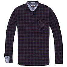 Buy Tommy Jeans Long Sleeve Checked Shirt, Indigo Online at johnlewis.com
