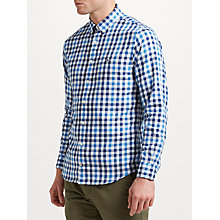 Buy Tommy Hilfiger Multi Gingham Check Shirt, Sky Captain Online at johnlewis.com