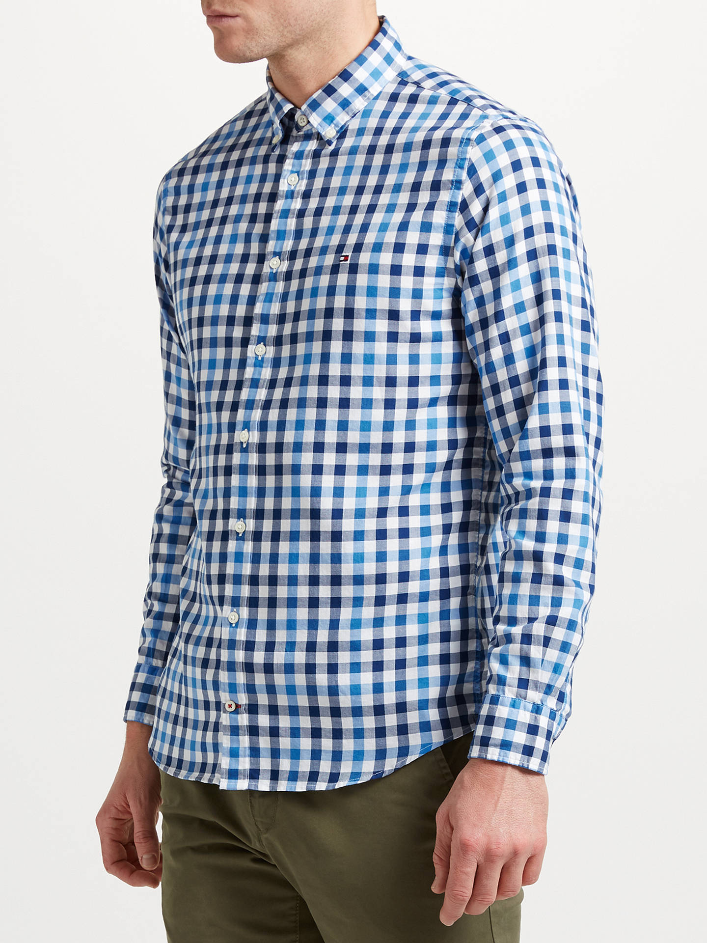 380b4e1ea Buy Tommy Hilfiger Multi Gingham Check Shirt, Sky Captain, S Online at  johnlewis.