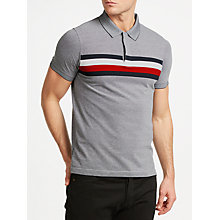 Buy Tommy Hilfiger Oakes Polo Shirt, Sky Captain/Bright White Online at johnlewis.com