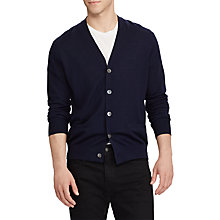 Buy Polo Ralph Lauren Long Sleeve Cardigan, Hunter Navy Online at johnlewis.com
