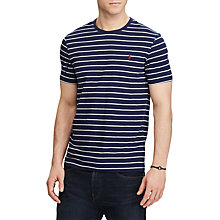 Buy Polo Ralph Lauren Short Sleeve Crew Neck T-Shirt, French Navy/Andover Heather Online at johnlewis.com