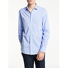 Buy Hackett London Winter Melange Check Shirt, Navy/Grey Online at johnlewis.com