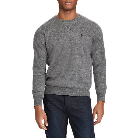 Buy Polo Ralph Lauren Crew Neck Sweatshirt, Sierra Grey Heather Online at johnlewis.com