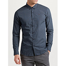 Buy Tommy Jeans Long Sleeve Shirt, Navy Online at johnlewis.com