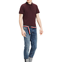 Buy Tommy Jeans Regular Melange Polo Shirt Online at johnlewis.com