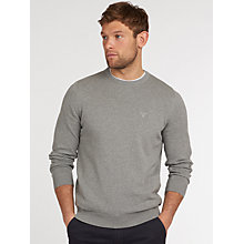 Buy Barbour Pima Cotton Crew Neck Jumper Online at johnlewis.com