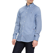 Buy Tommy Hilfiger Micro Argyle Print Shirt, Dark Blue/White Online at johnlewis.com