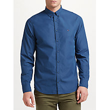 Buy Tommy Hilfiger 1st Class Peach Poplin Shirt, Ensign Blue Online at johnlewis.com