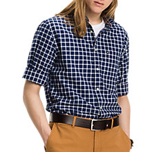 Buy Tommy Hilfiger Hampton Check Oxford Shirt, Dark Blue/Snow White Online at johnlewis.com