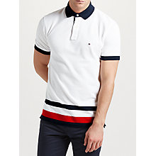 Buy Tommy Hilfiger Bart Short Sleeve Polo Top, Classic White Online at johnlewis.com
