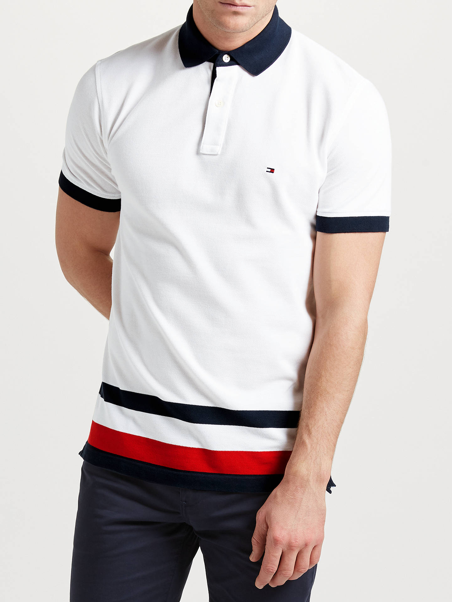 65591321f Buy Tommy Hilfiger Bart Short Sleeve Polo Top, Classic White, S Online at  johnlewis ...