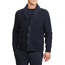 Buy Polo Ralph Lauren Long Sleeve Cord Shawl Jumper, Navy Ragg Online at johnlewis.com