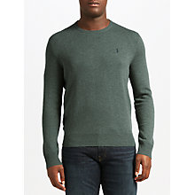 Buy Polo Ralph Lauren Crew Neck Jumper, Moss Green Heather Online at johnlewis.com