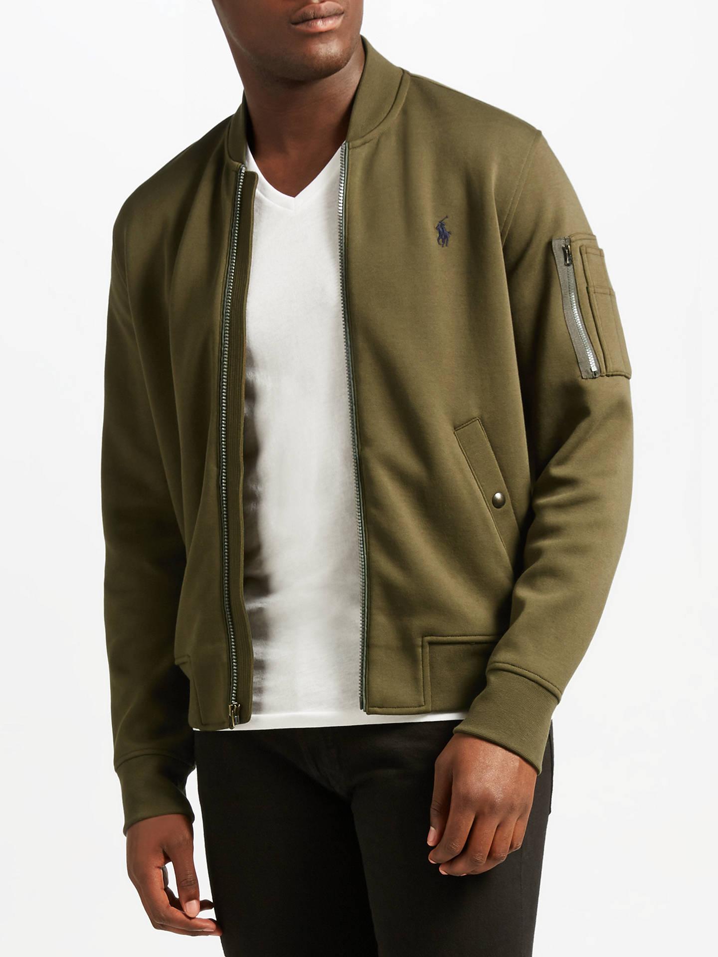 1dc1ecbae Polo Ralph Lauren Long Sleeve Jacket, Company Olive at John Lewis ...