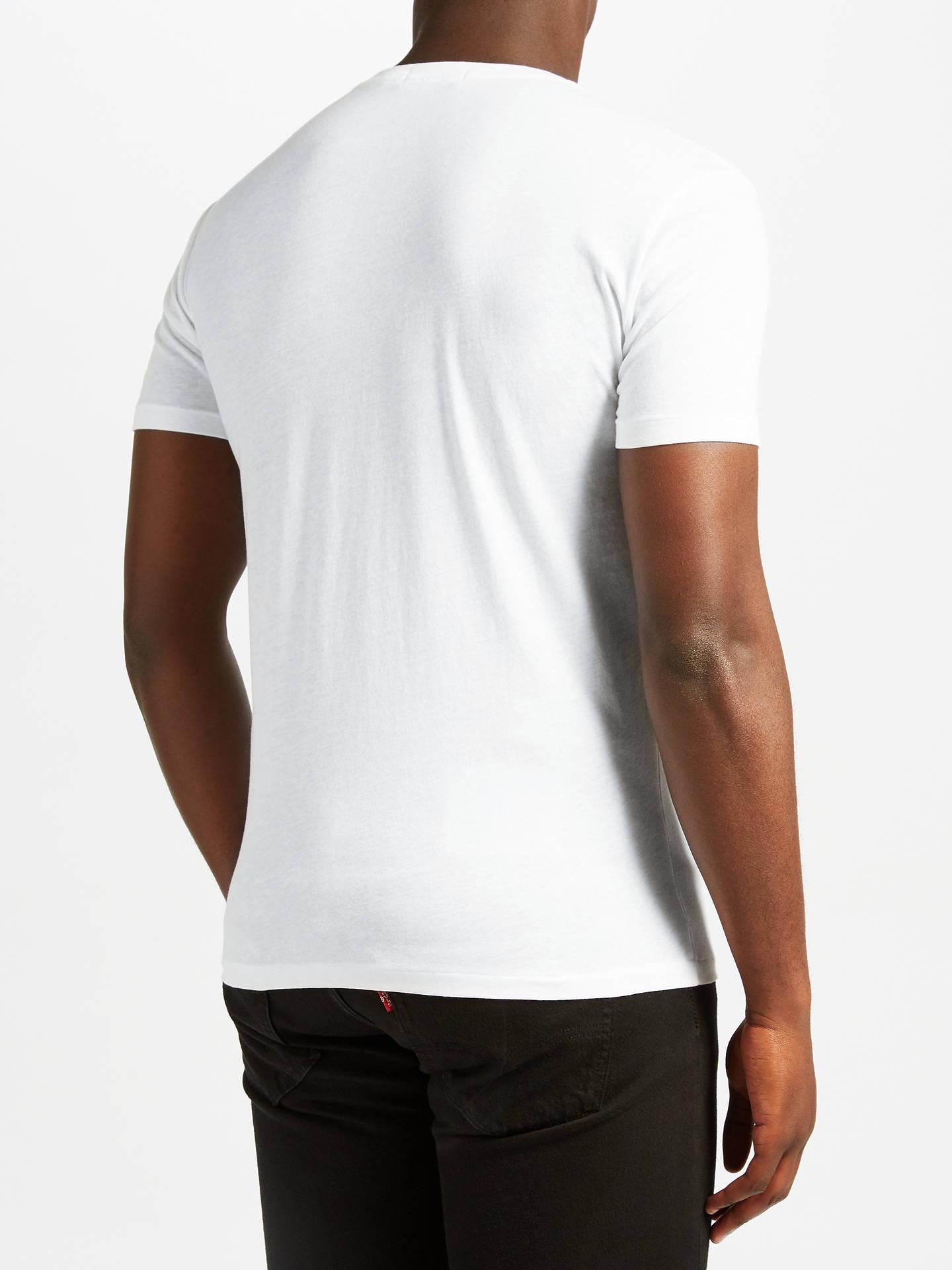 ee35f7adeb Polo Ralph Lauren V-Neck T-Shirt, White at John Lewis & Partners