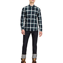 Buy Tommy Jeans Regular Check Shirt, Navy Online at johnlewis.com