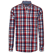 Buy Tommy Hilfiger Hero Check Shirt, Estate Blue/Rio Red Online at johnlewis.com
