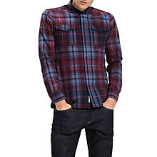 Buy Tommy Jeans Overdye Check Shirt, Multi/Red Online at johnlewis.com