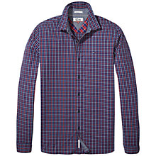 Buy Tommy Jeans Basic Regular Check Shirt, Indigo Online at johnlewis.com