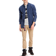 Buy Tommy Jeans Solid Long Sleeve Shirt Online at johnlewis.com