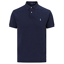 Buy Polo Ralph Lauren Knit Polo Shirt, Spring Navy Heather Online at johnlewis.com