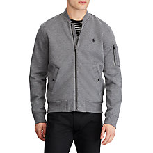 Buy Polo Ralph Lauren Long Sleeve Bomber Jacket, Foster Grey Heather Online at johnlewis.com