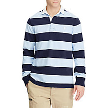 Buy Polo Ralph Lauren Long Sleeve Knit Rugby Top, French Navy/Elite Blue Online at johnlewis.com