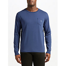 Buy Polo Ralph Lauren Crew Neck Pocket T-Shirt, Light Navy Online at johnlewis.com