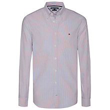Buy Tommy Hilfiger Ithaca Shirt, Estate Blue/Haute Red/White Online at johnlewis.com