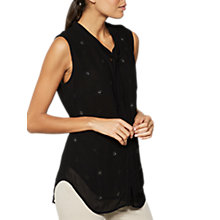 Buy Mint Velvet Beaded Sleeveless Top, Black Online at johnlewis.com