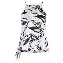Buy Coast Butani Leaf Print Ruffle Top, Multi Online at johnlewis.com