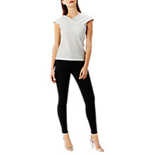Buy Coast Effie Metallic Top, Silver Online at johnlewis.com