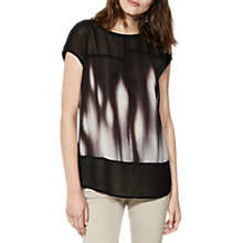 Buy Mint Velvet Pyper Print Silk T-Shirt, Multi Online at johnlewis.com