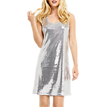 Buy Oasis Sequin Vest Dress, Pale Grey Online at johnlewis.com