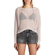 Buy AllSaints Elle Levita Jumper, Charcoal Grey Online at johnlewis.com
