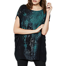 Buy Mint Velvet Roxan Studded Cocoon T-Shirt, Multi Online at johnlewis.com