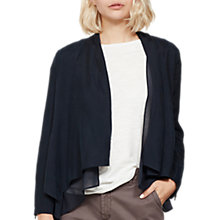Buy Mint Velvet Organic Cupro Jacket, Dark Blue Online at johnlewis.com