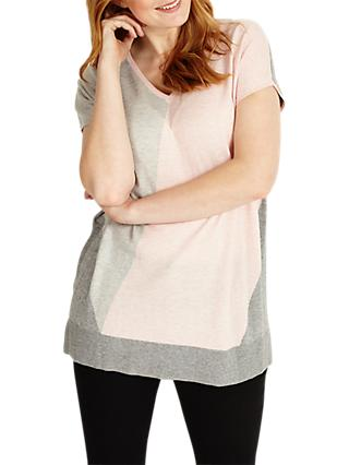 Studio 8 Dawn Jumper, Pink/Grey