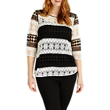 Buy Studio 8 Zoey Blouse, Black/White Online at johnlewis.com