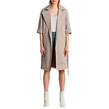 Buy AllSaints Luna Stitch Twill Mac Online at johnlewis.com